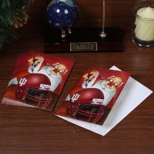 Indiana Hoosiers 12 Pack Single Santa Painting Design Christmas Cards