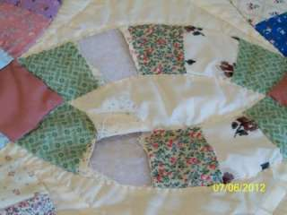 Vintage Hand made Double Wedding ring Cutter quilt Crafts