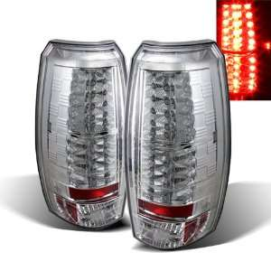 07 10 Chevy Avalanche Chrome LED Tail Lights Automotive