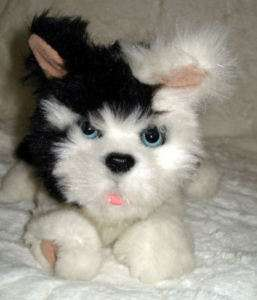 Fur Real New Born Border Collie Puppy Dog Plush