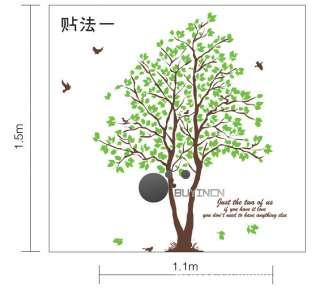 1Set Roommates wall decals sticker LOVE TREE peel stick Gaint Decor