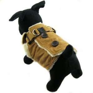 Dog Apparel   Faux Suede Coat   Color Brown, Size S