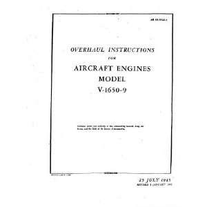 Merlin V 1650  9 Aircraft Engine Overhaul Manual Rolls Royce Books
