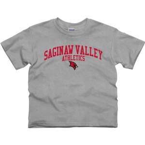 Saginaw Valley State Cardinals Athletics T Shirt   Ash