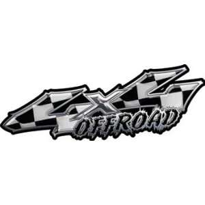Wicked Series 4x4 Truck or SUV Offroad Decals Checkered Racing Flag