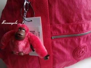 KIPLING ART Satchel Tote Shoulder Bag Brink Pink