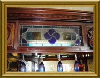 ANTIQUE C.1890 LARGE ENGLISH PUB BAR,STAINED GLASS,RARE