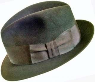 vintage 60s± DOBBS mens FEDORA dark brown felt HAT