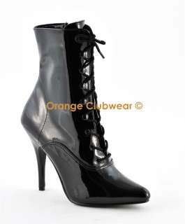 PLEASER Seduce 1020 Womens Ankle High Heels Boots Shoes