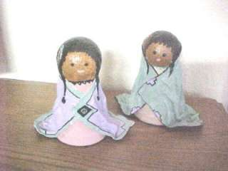 Darling Handcrafted Folk Art Paper Mache Doll Decor 609