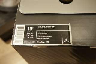 DS RARE Nike Air Jordan Retro 3 III FIRE RED CEMENT sz 10.5 BRAND NEW
