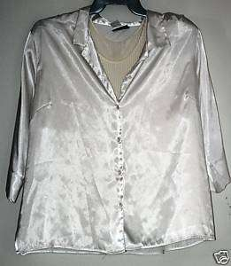 Lot 2 FASHION BUG White FORELLI Shirt Top Tank 22/24 3X