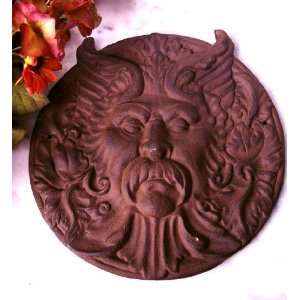 Cast Iron Round Man Face Rust REDUCED! Home & Kitchen