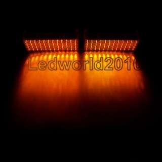 2x 48 LED Amber Dash Strobe Grill Flash Emergence Light