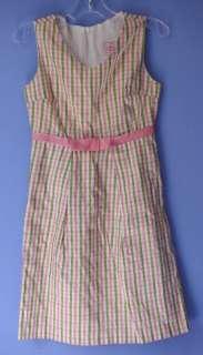 COTTONTAIL ORIGINALS Plaid Silk Shift Dress 8 EUC *