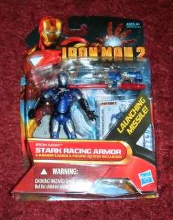 Iron Man 2, Movie Figure, Stark Racing Armor Rare