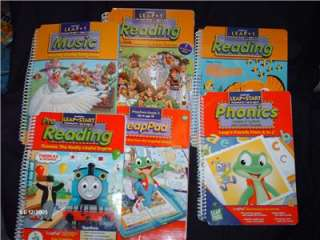 LOT OF 4 LEAPPAD LEARNING SYSTEMS 3 BOOKS W/ CARTRIDGE + EXTRAS