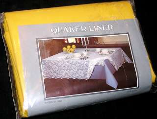 NIP Vintage~Autumn Gold~ CLOTH LINER Tablecloth 60x120 by QUAKER LACE