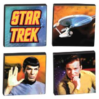Star Trek Kirk, Spock & Enterprise 4 Piece Magnet Set