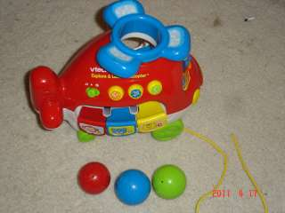 Vtech Explore & Learn Helicopter with 4 balls