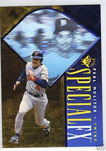 PAUL MOLITOR 1996 UPPER DECK SP SPECIAL FX #39 TWINS