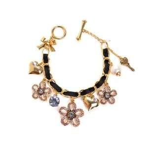 Betsey Johnson Iconic Spring Bloom Charm Bracelet Jewelry