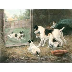 Credit to his Family, A Etching Berkeley, Stanley Animals, Dogs Birds