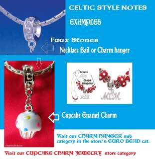 Clauddagh, CELTIC Heart CHARM, thick ,Dangle this on ur European Bead