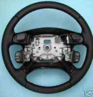 Land Rover Discovery 2 OEM Black Leather Steering Wheel