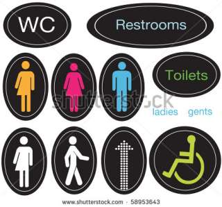 Set Of Restroom Icons And Signs Stock Photo 58953643 : Shutterstock