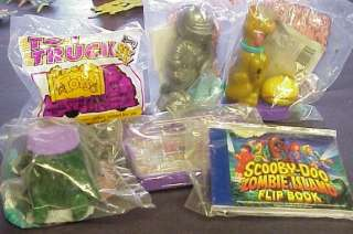 scooby doo zombie island toy set of 6 MIB 1998 wendys