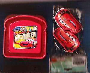 DISNEY PIXAR CARS SANDWICH BOX & 2pk SNACK CONTAINERS