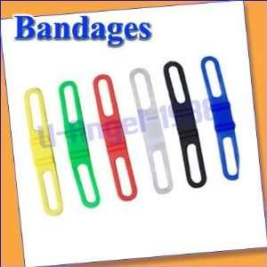 bike bicycle universal silicone fixed strap bandage six