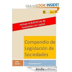 Compendio Legislación de Sociedades (Spanish Edition) Iuris Books