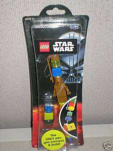 Lego Star Wars Chewbacca & Yoda Pens (One Each) LUCAS