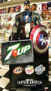 Up CAPTAIN AMERICA / CHRIS EVANS Lifesize PROMO Display STAND 2011