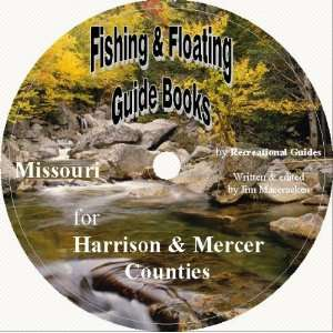 Harrison & Mercer County Fishing & Floating Guide Book Books