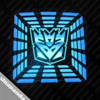 sina Up and Down Light Sound Activated LED EL T Shirt Transformers