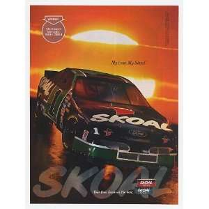 1995 NASCAR #1 Car Skoal Tobacco Print Ad (11142) Home