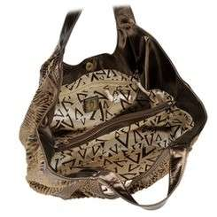 new brown bronze zebra print votatile purse soft animal short