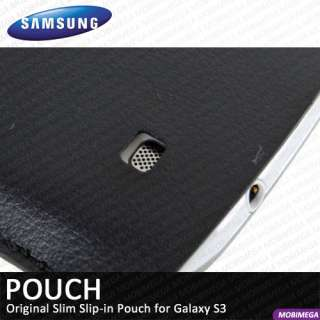 1G6LBEC Slip Leather Pouch Case Cover Galaxy S3 SIII   Black