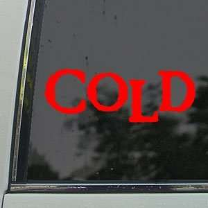 Cold Red Decal Rock Band Car Truck Bumper Window Red