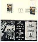 United States Postal Service 1973 FDC Stamp Cover Clerk