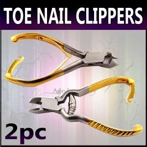 Pro Toe Nail Clippers Cutters Nippers Pedicure 2pc SET
