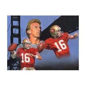 Joe Montana San Francisco 49ers Large Giclee Sports