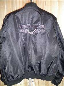 Harley Davidson Vtg Nylon Riding Jacket 3XL Windbreaker Bomber GENUINE