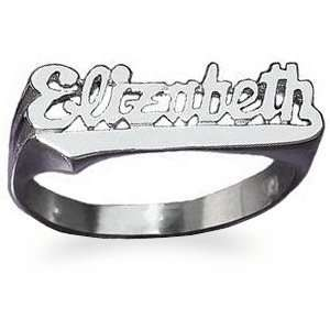 Sterling Silver Script Name Ring   Personalized Jewelry Jewelry