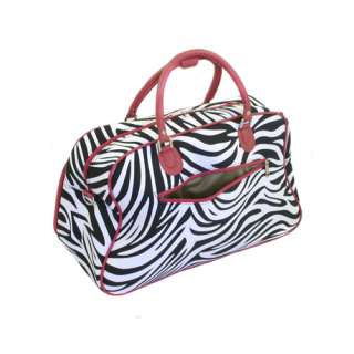 World Traveler Shoulder Travel Bag   Red Zebra 857519814129