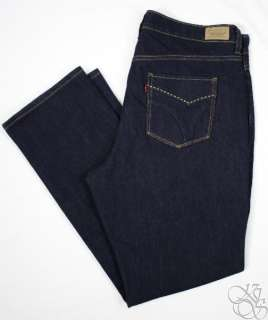 Levis Jeans 512 Perfectly Shaping Pure Blue Denim Plus Size Pants NEW