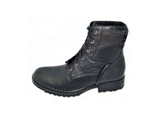 RJ COLT Majority Black Mens Casual Leather Boots Size 8.5